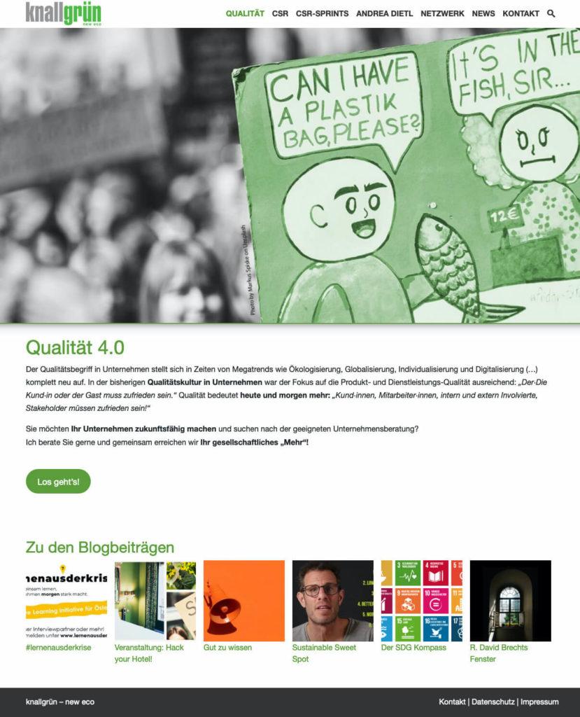 Knallgrün - New Eco Webseite