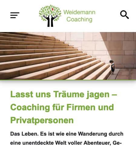Mobile Seite von Weidemann-Coaching.de