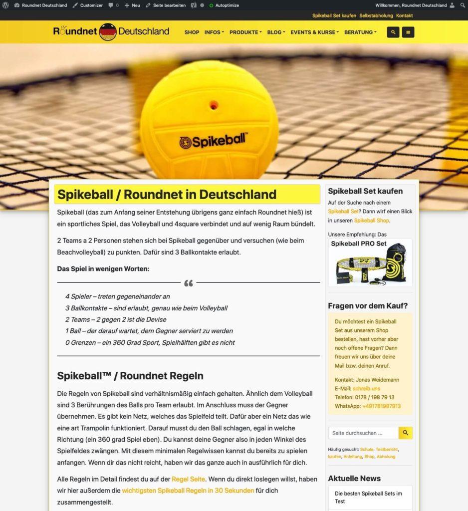 Webseite von Roundnet-Deutschland